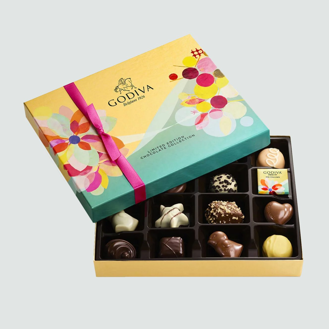 Godiva Throw with Spring Assorted Chocolate Gift Box