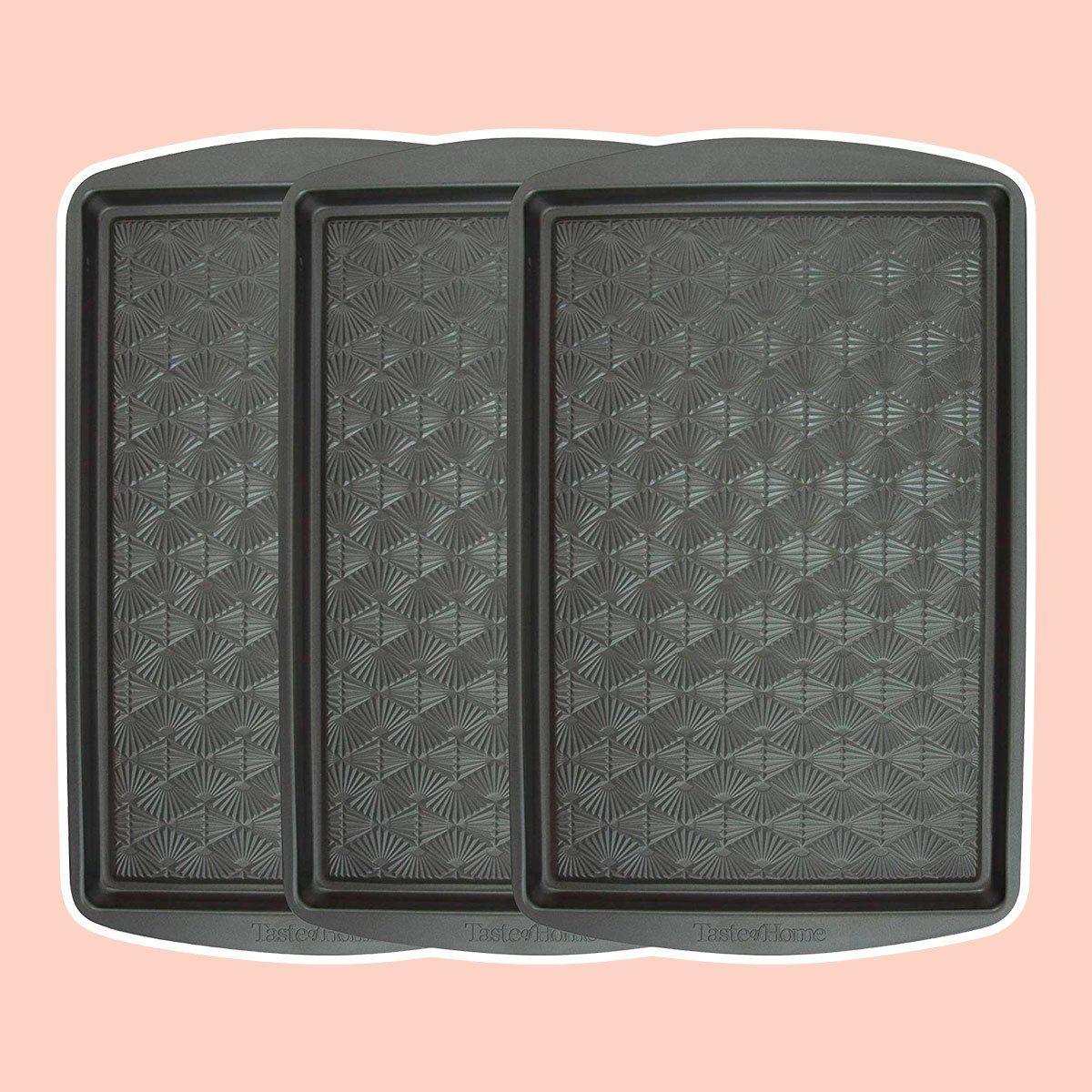 Taste of Home Set of 3-15 x 10 inch Non-Stick Metal Baking Sheet
