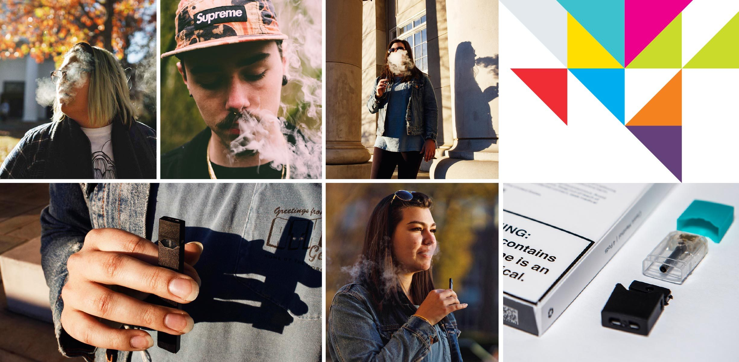 young people vaping and juul packs