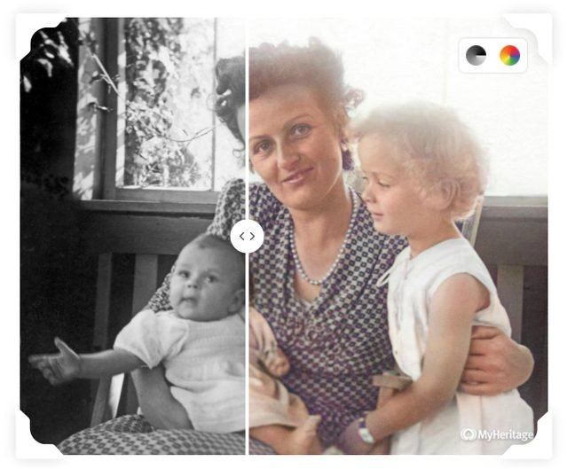 MyHeritage colorize tool