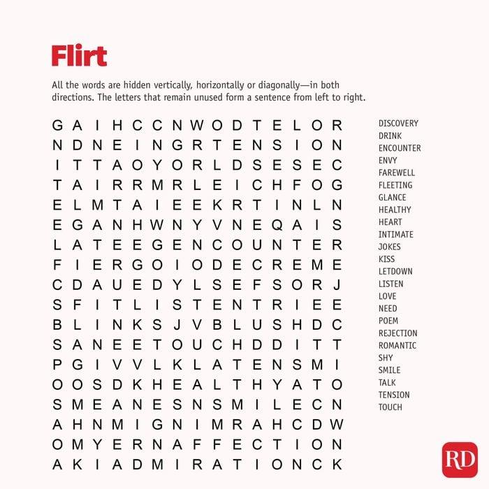Flirt Wordsearch
