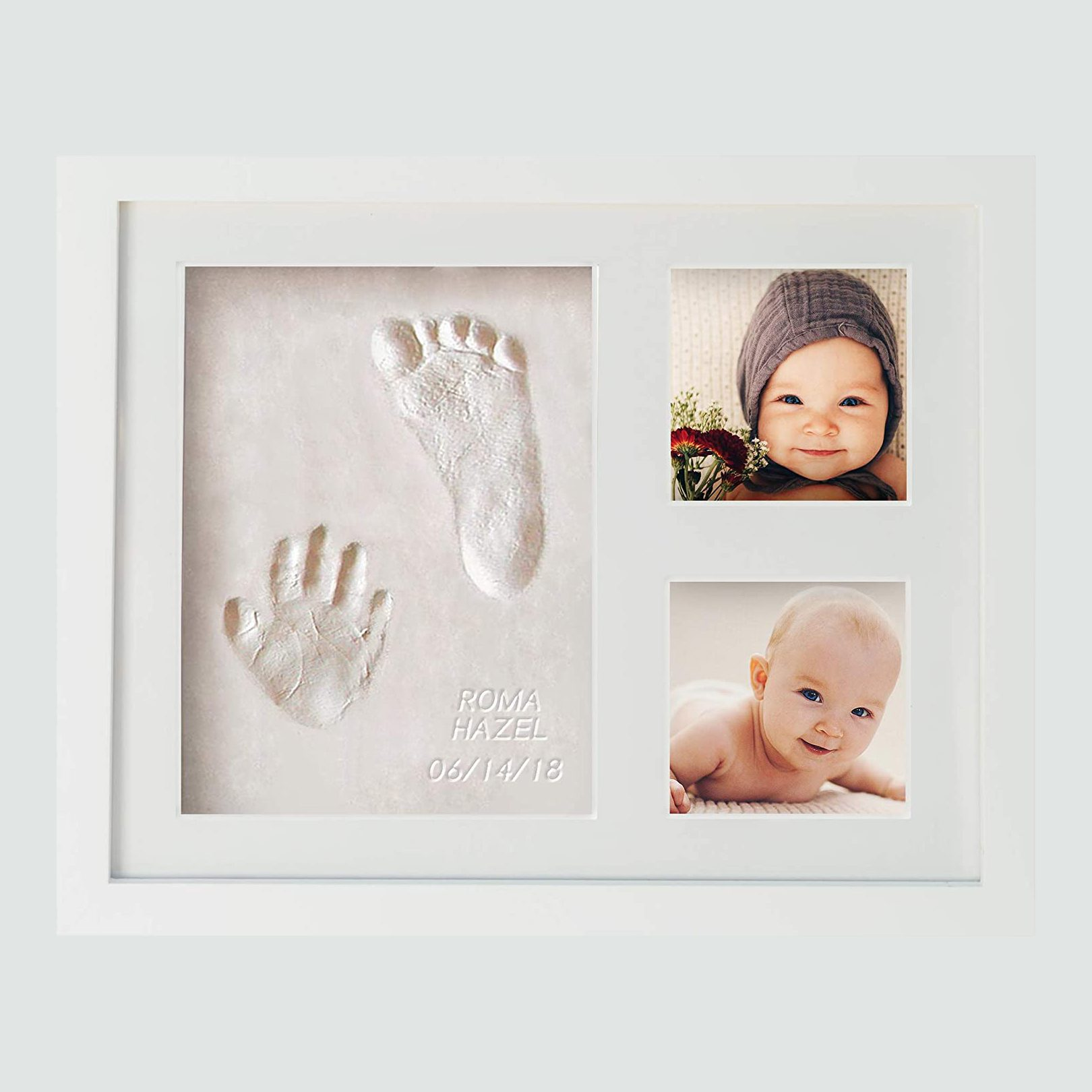 WavHello Baby Handprint and Footprint Frame