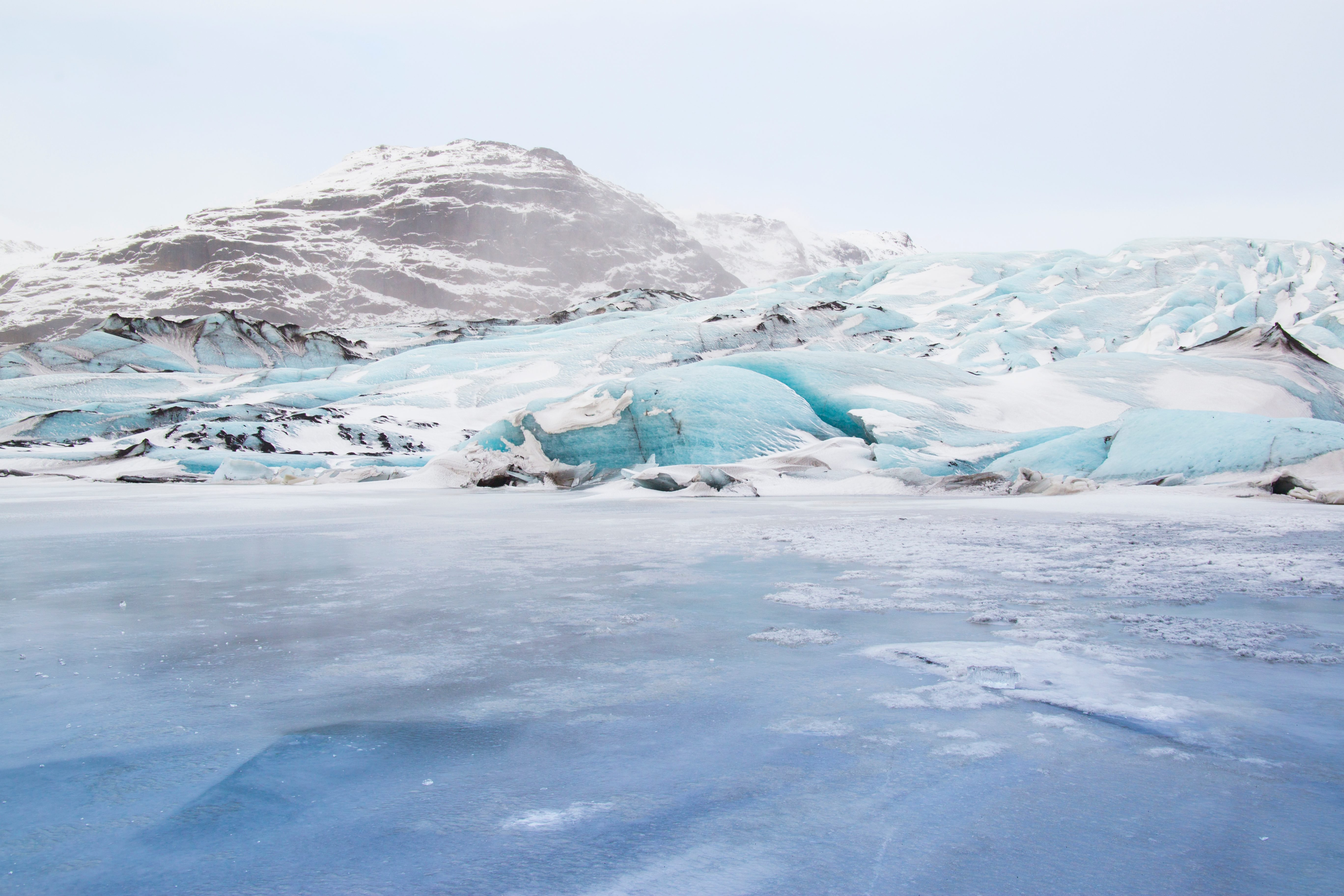 Solheimajokull glacier (Sólheimajökull) in the south of Iceland is popular with ice climbers and a popular tourist location owing to its size and relative ease of access.