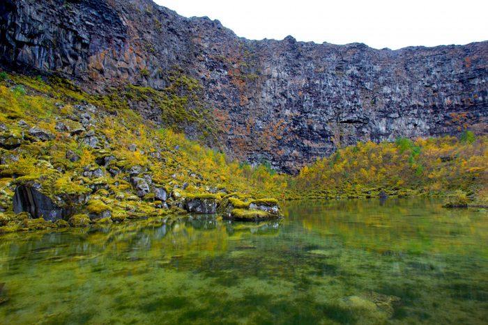 Ásbyrgi Canyon, Iceland: Botnstjörn Pond in Horseshoe Canyon