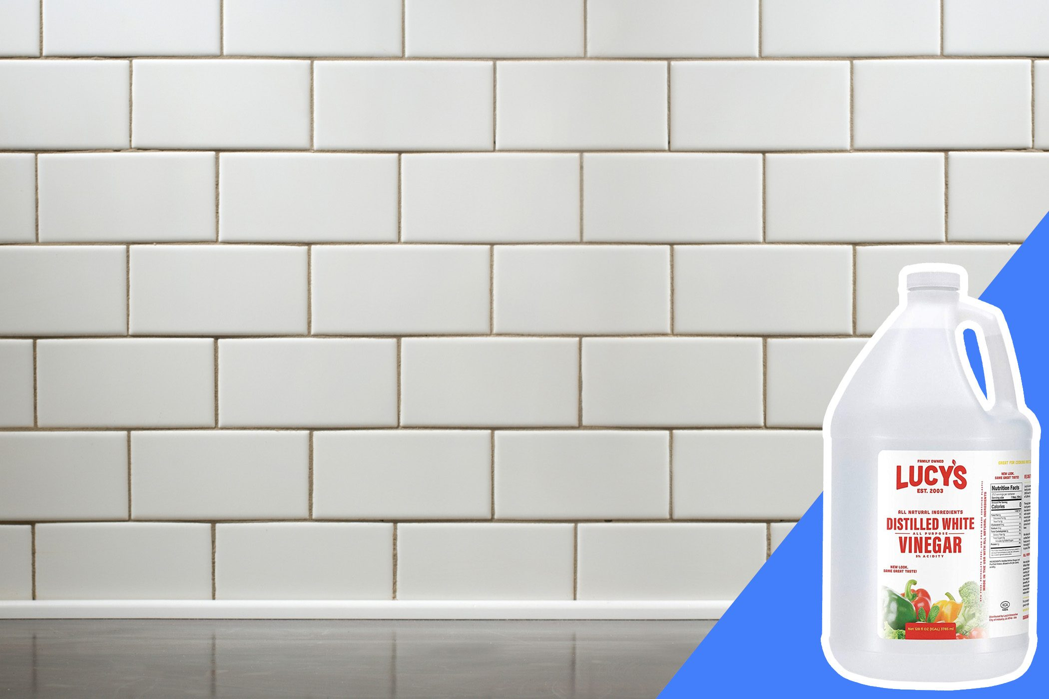 don't clean grout lines with bleach