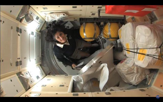 screenshot of international space station tour video