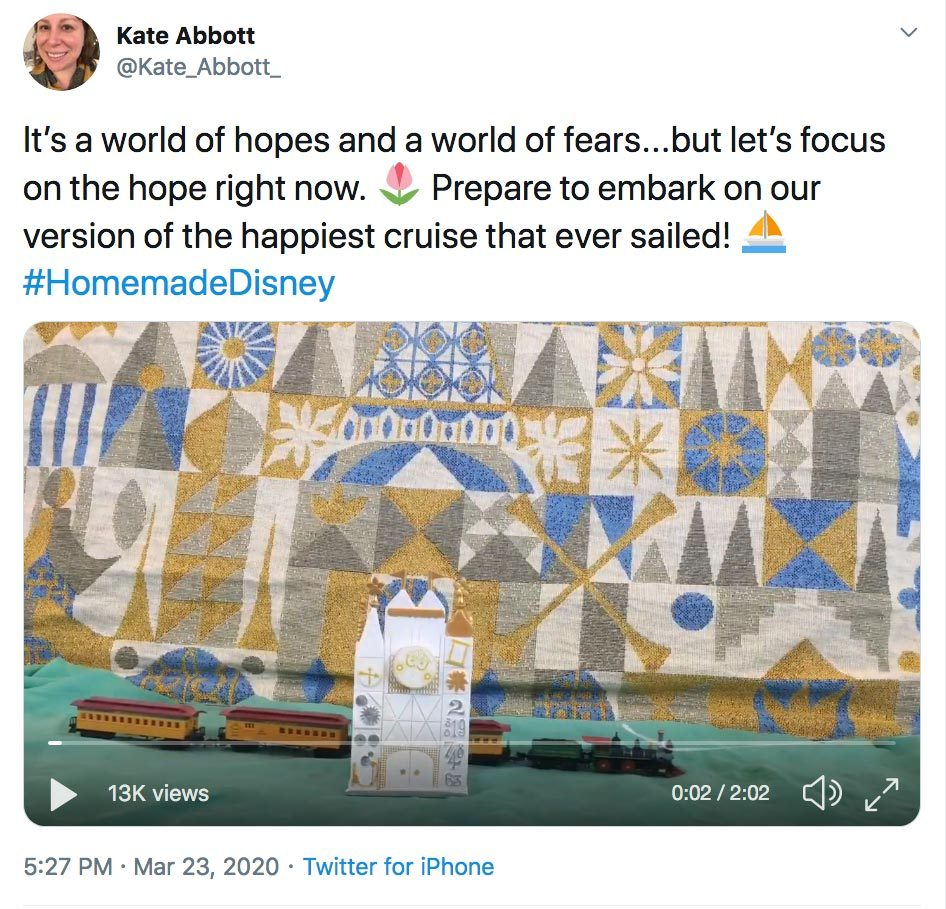 kate abboot homemade disney its a small world