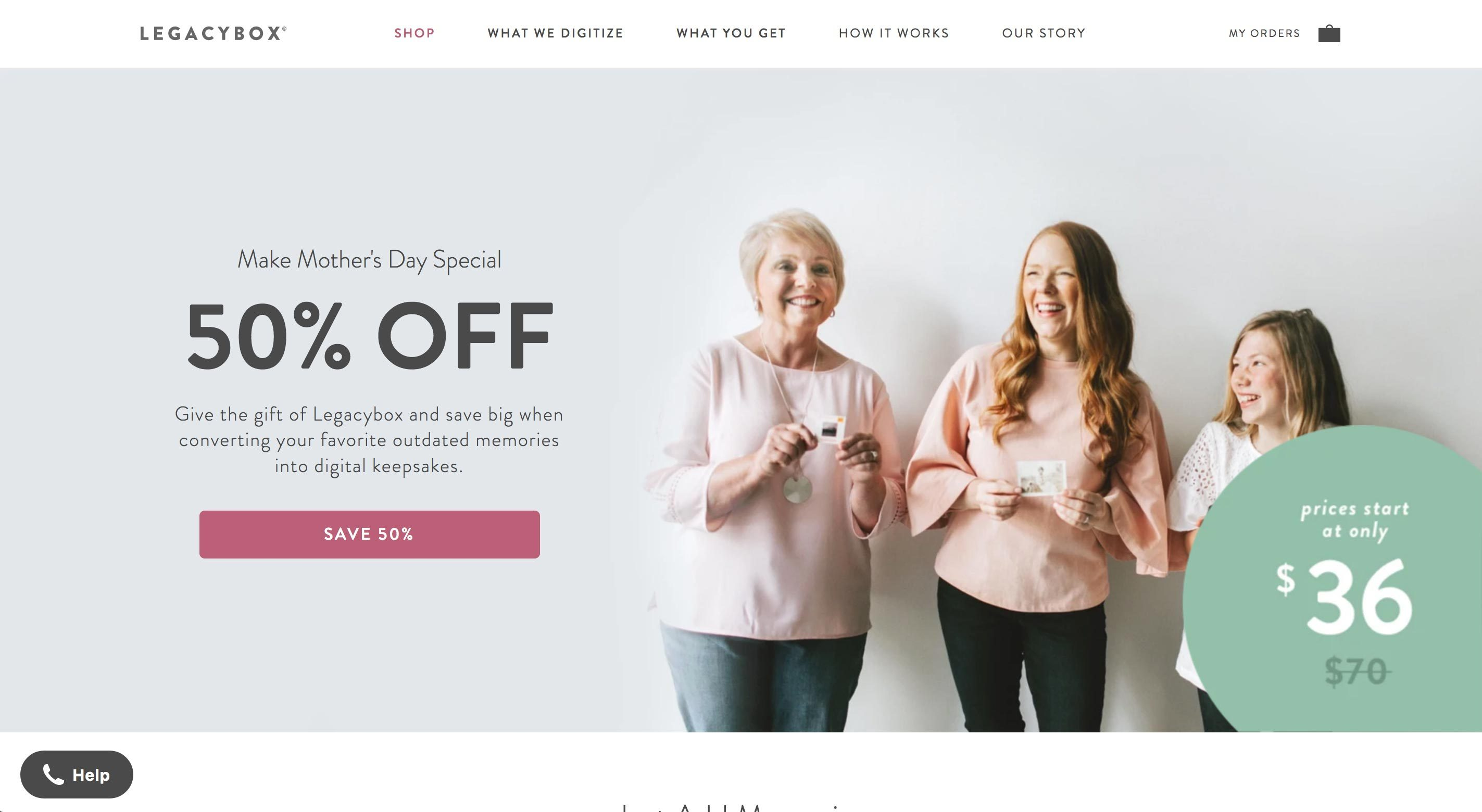 legacybox homepage