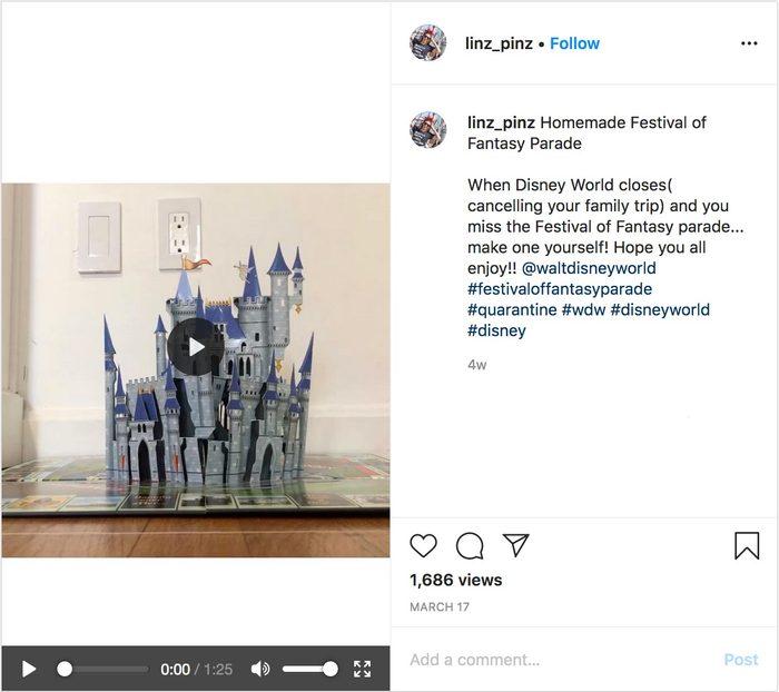 linz_pinz homemade disney parade video on instagram