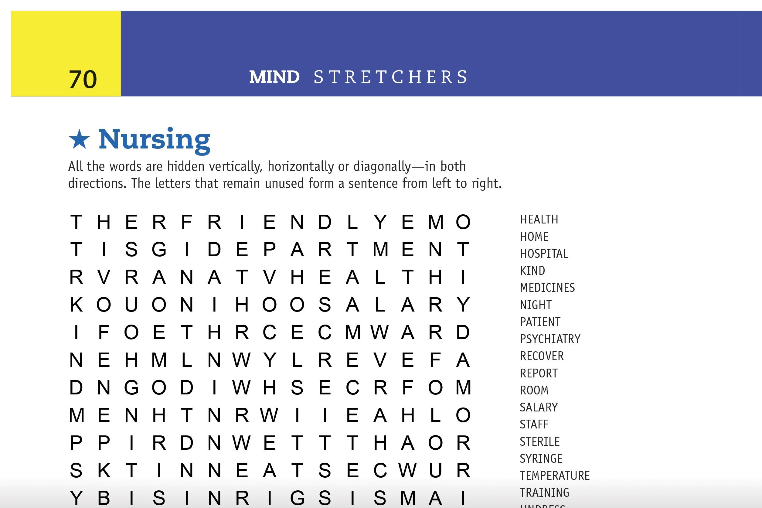 nursing word search preview