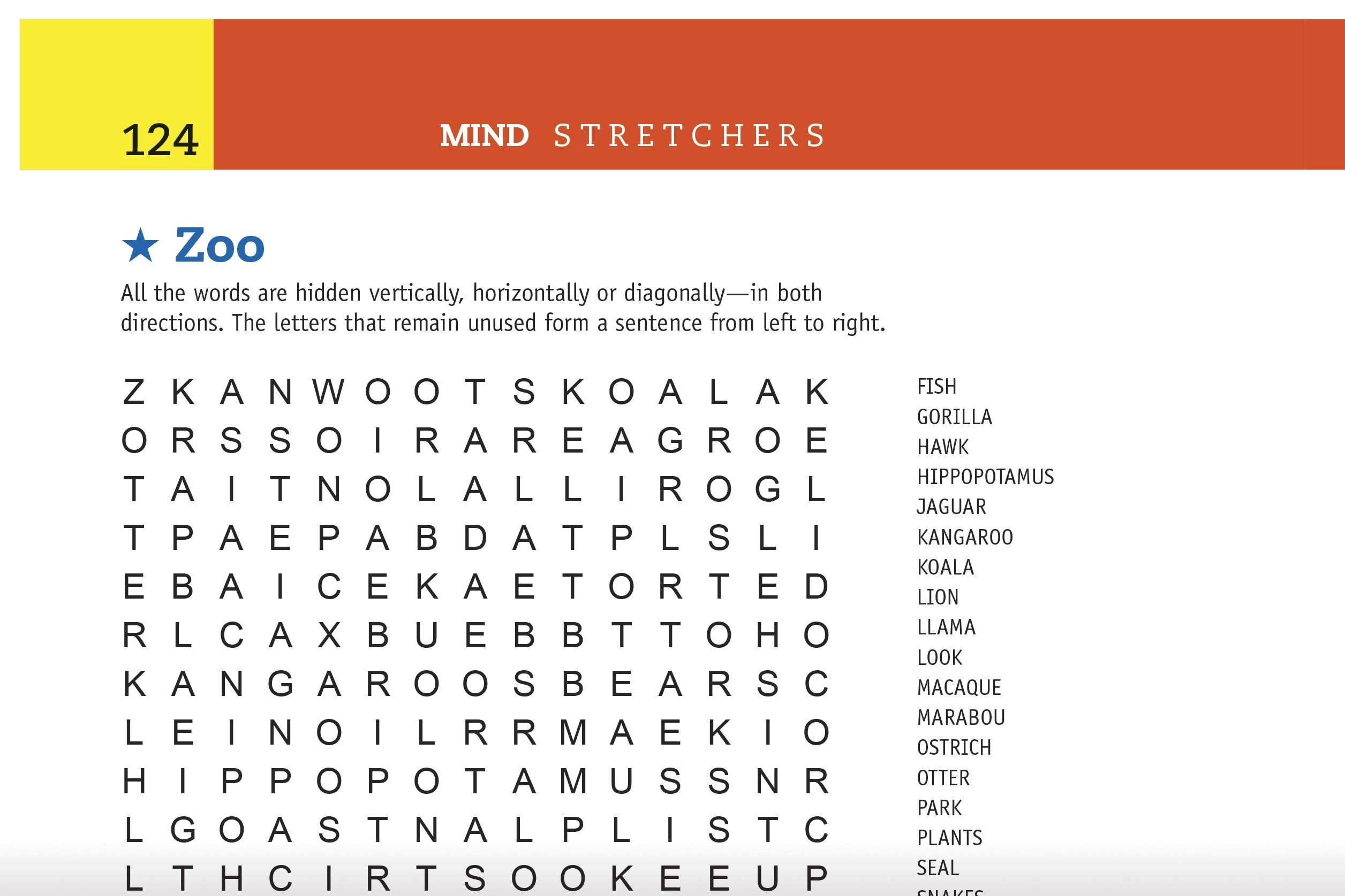 zoo word search preview