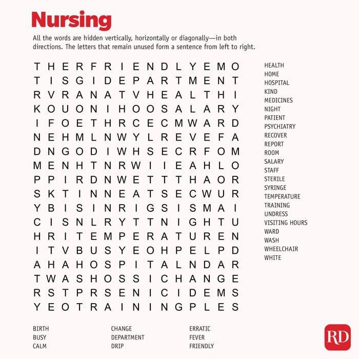 Nursing Word search