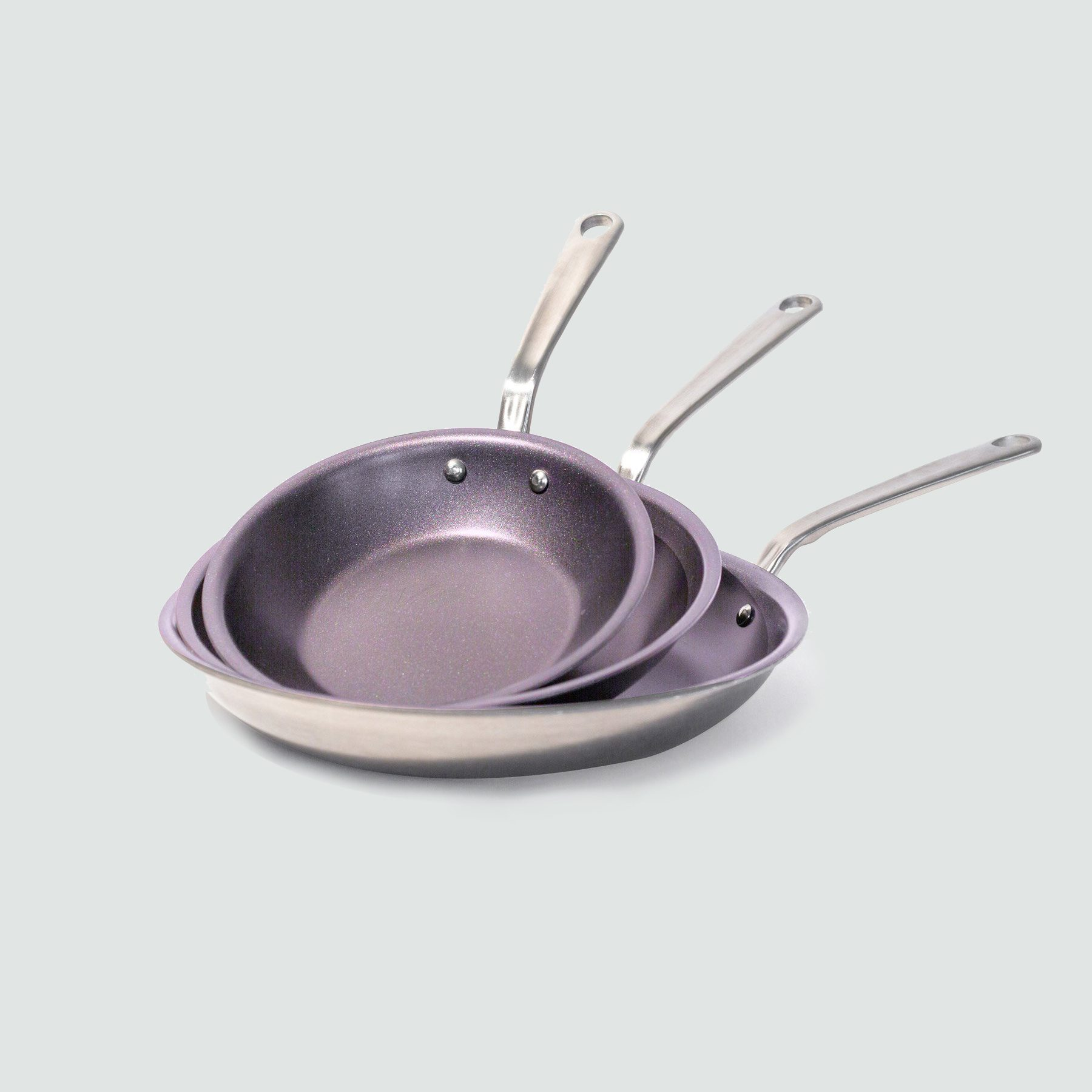 Purple Non-Stick Frying Pan for Cystic Fibrosis Awareness