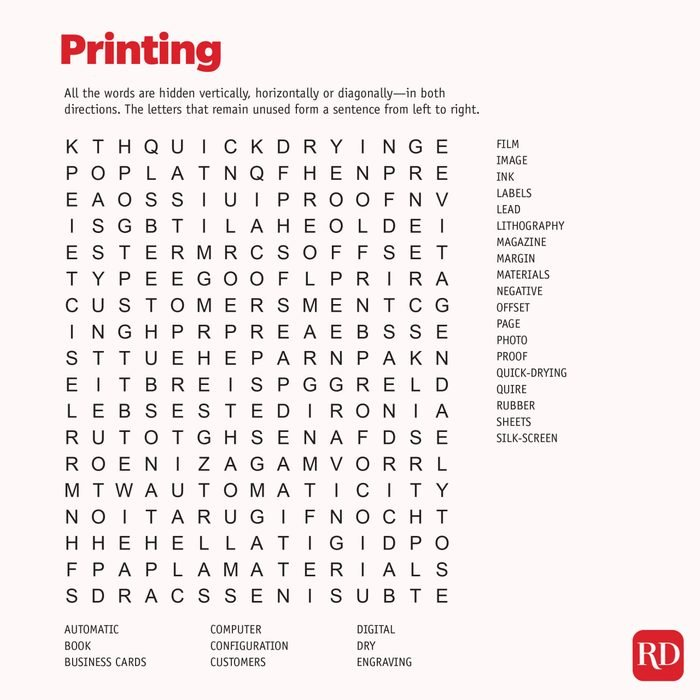 Printing Word search