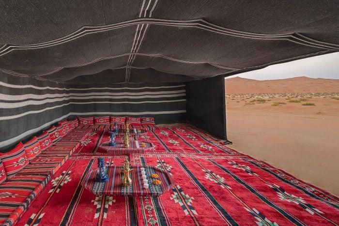 bedouin tent desert camp majilis