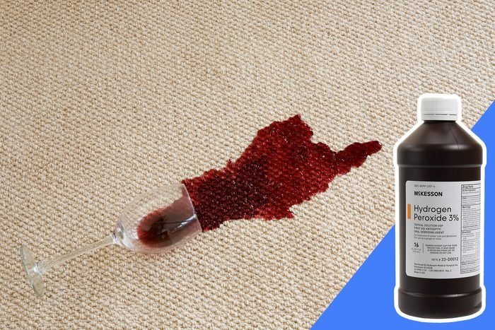 don't clean red wine stains with bleach