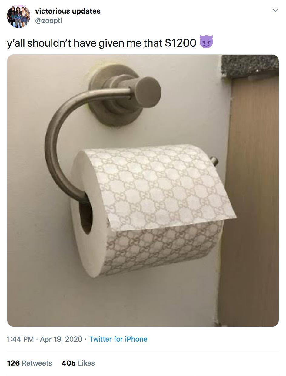 twitter user posts designer toilet paper