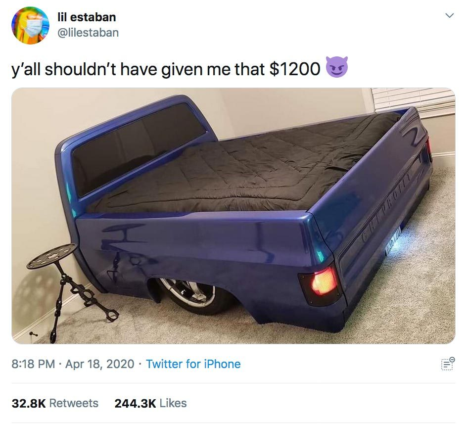 stimulus check truck bed