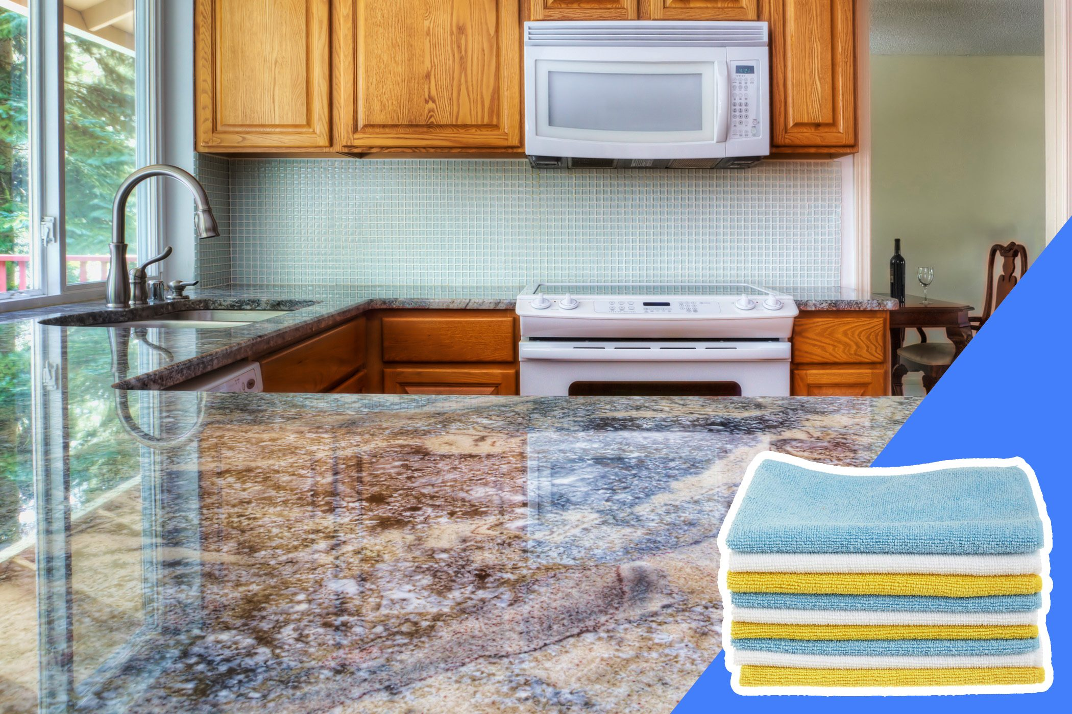 don't clean stone countertops with bleach