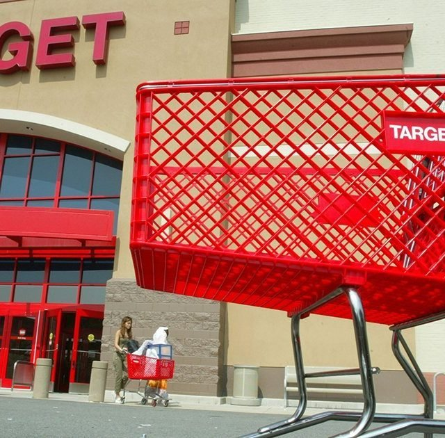 SPRINGFIELD, VA - AUGUST 14: Customers leave Target August 14, 2003 in Springfield, Virgina. Target Corp. reported a four percent increase in second-quarter profits. (Photo by Alex Wong/Getty Images)