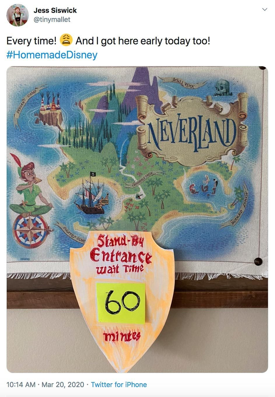 tinymallet neverland wait time