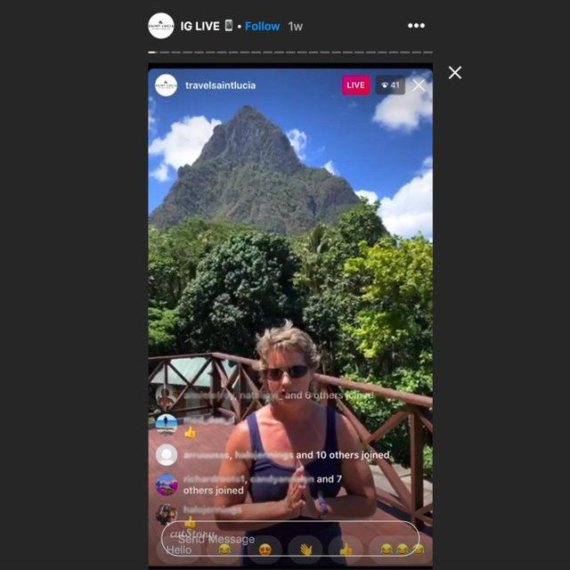 travelsaintlucia instagram story
