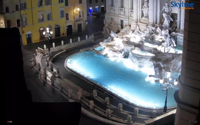 trevi fountain rome webcam
