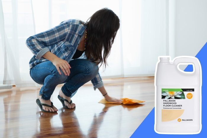 don't clean wood surfaces with bleach