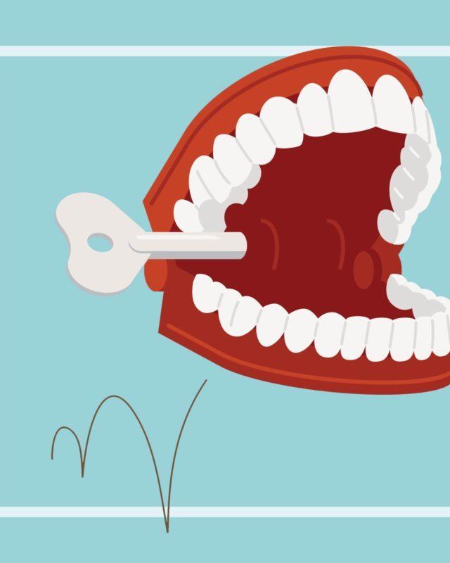 Laughing Wind-Up Teeth