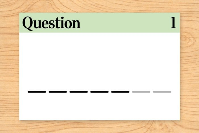five letter word. question 1 illustration