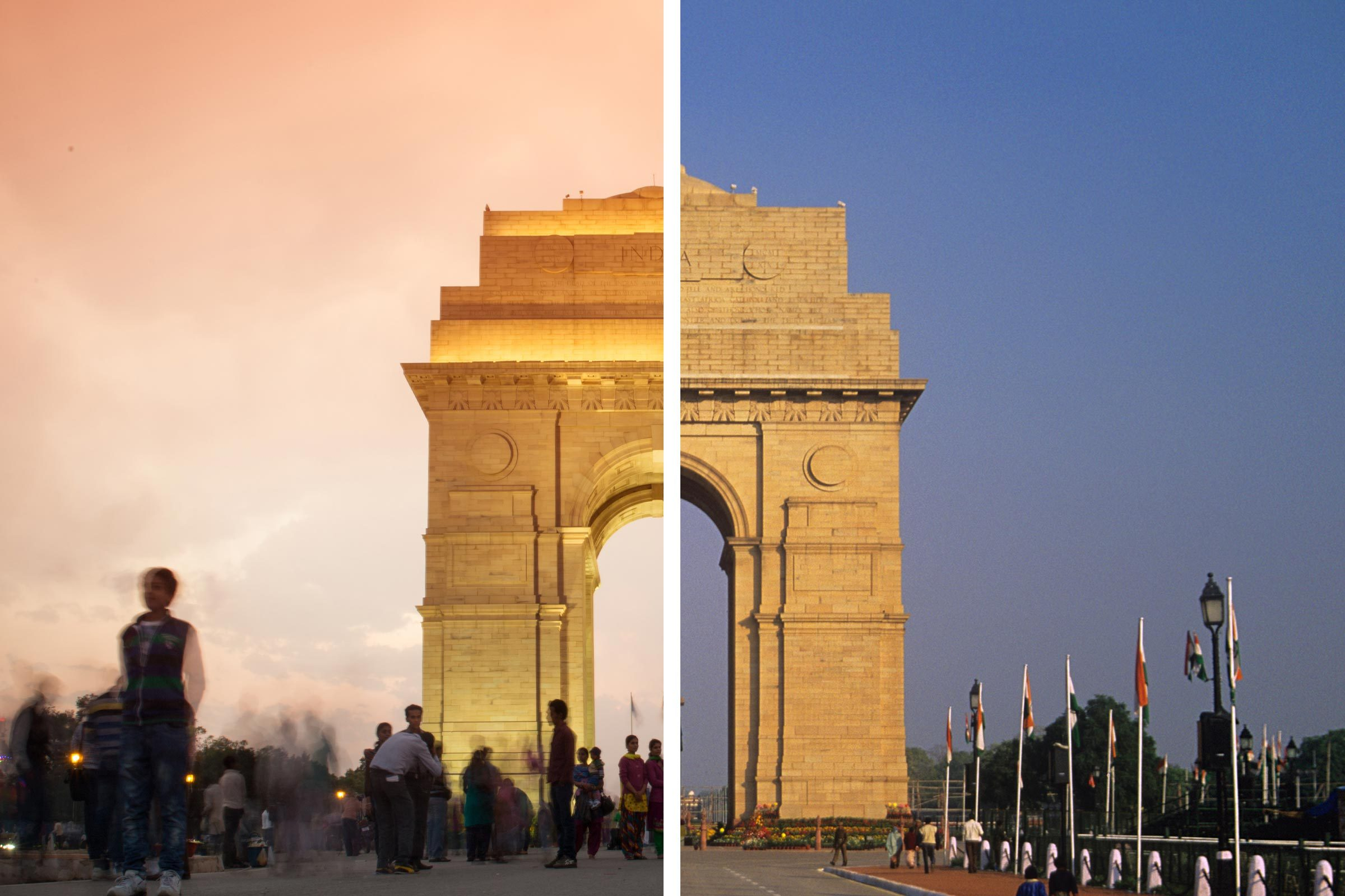 Before/After New Delhi