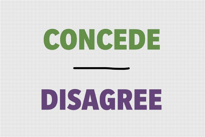Concede/Disagree