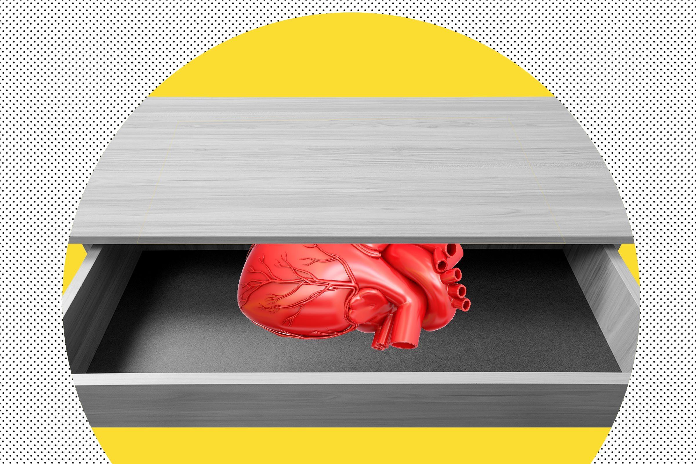 Heart in Desk Drawer