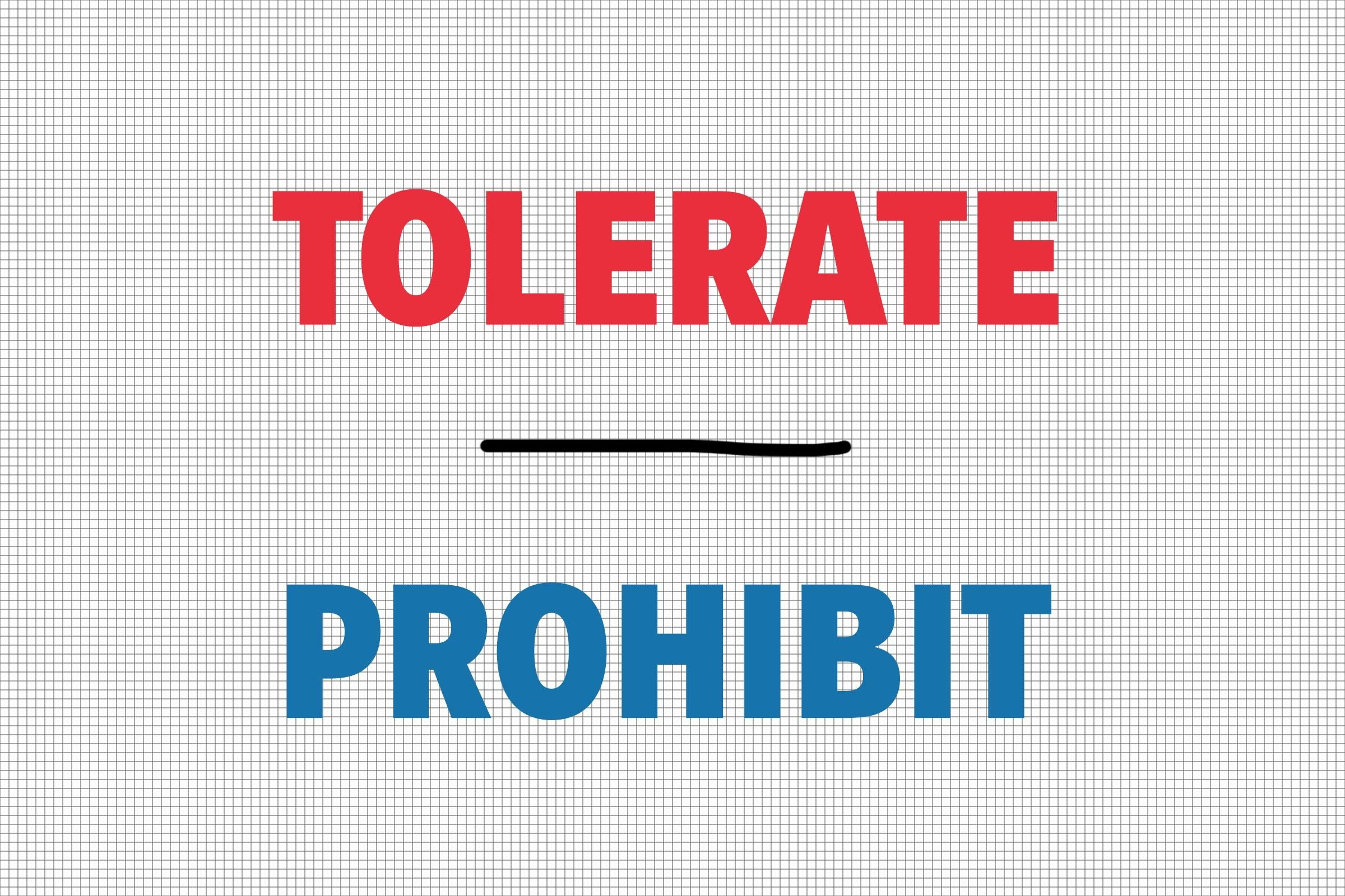 Tolerate/Prohibit