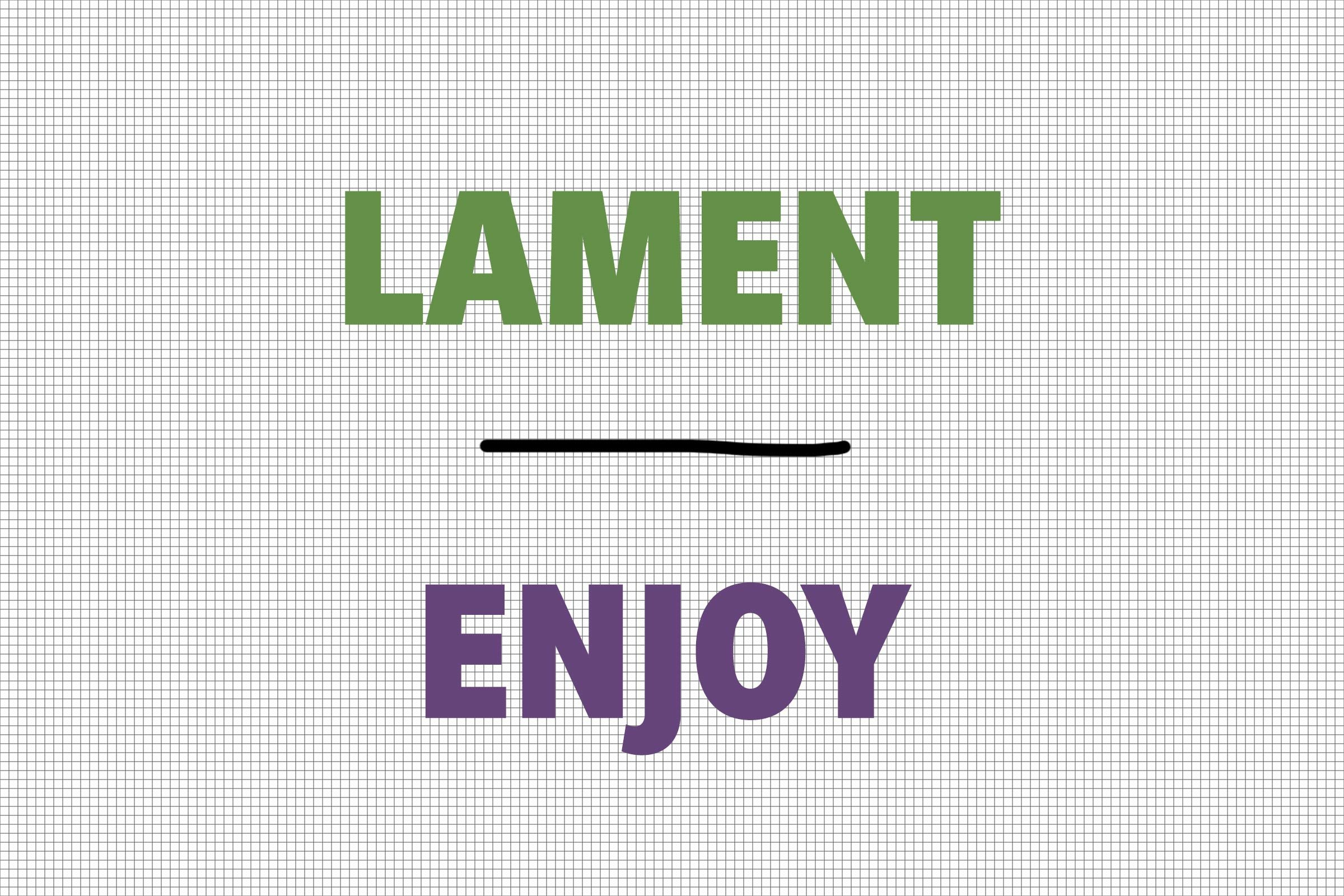 Lament/Enjoy