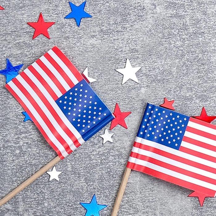 American flags beside stars