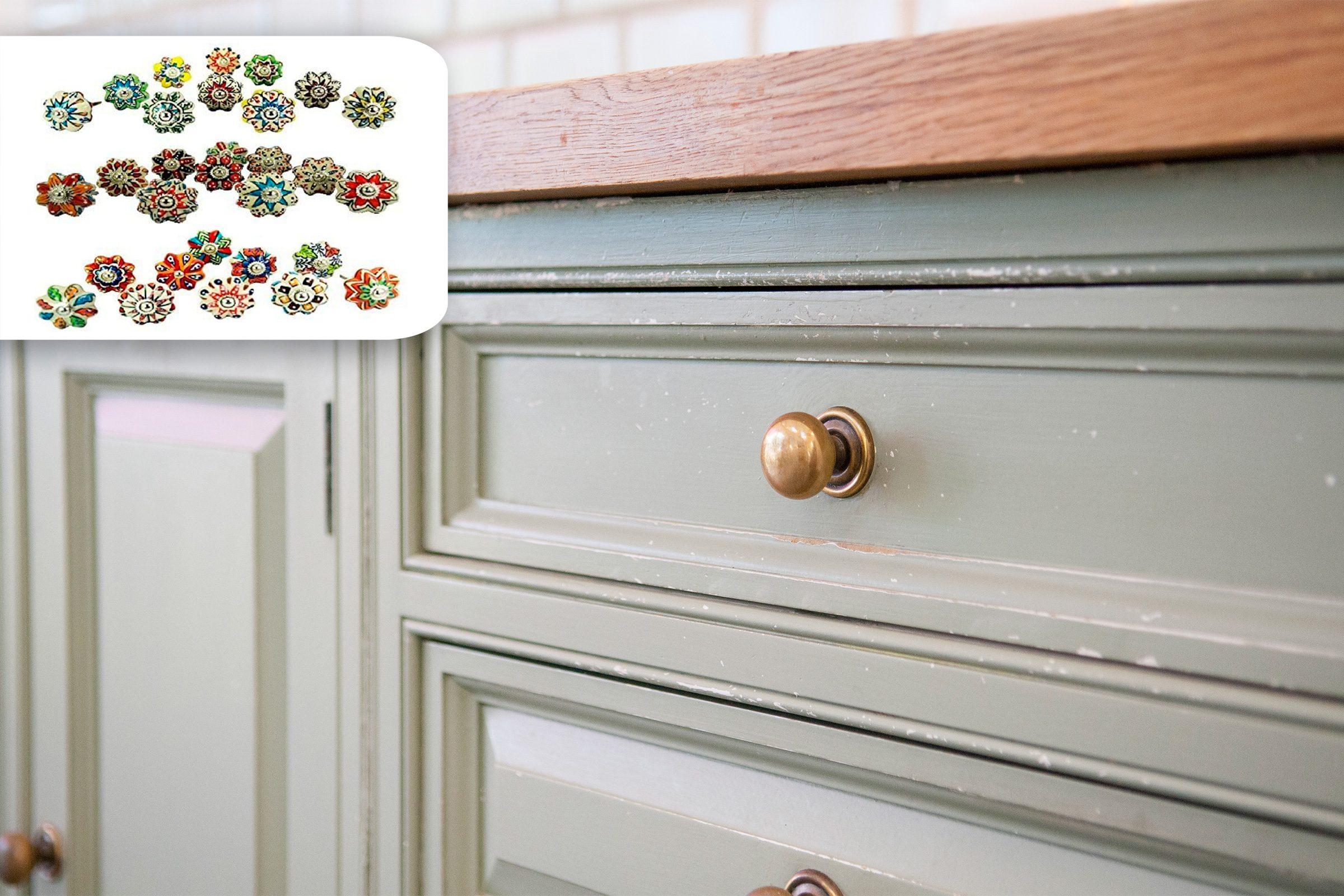 cabinet hardware close up with shopping idea