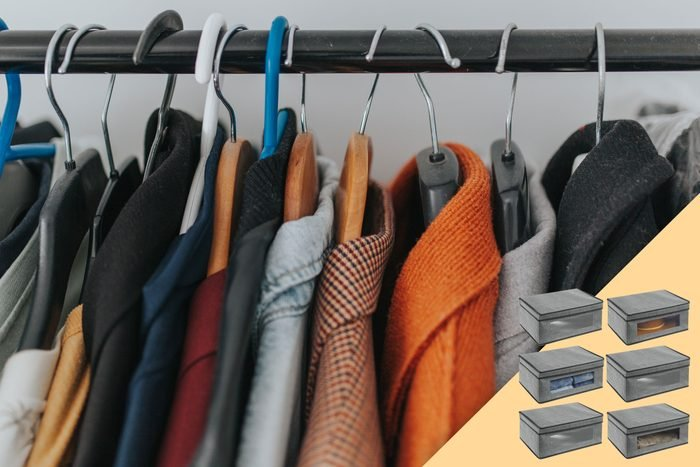 coat closet with suggested product