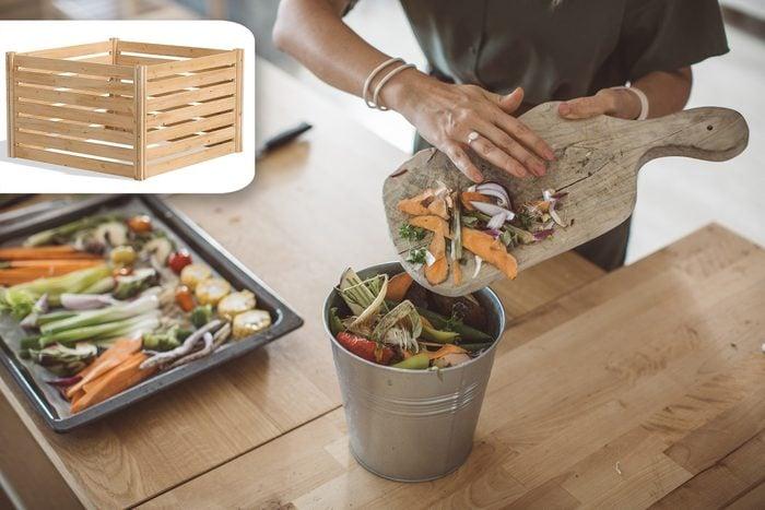 start a compost bin with shopping idea