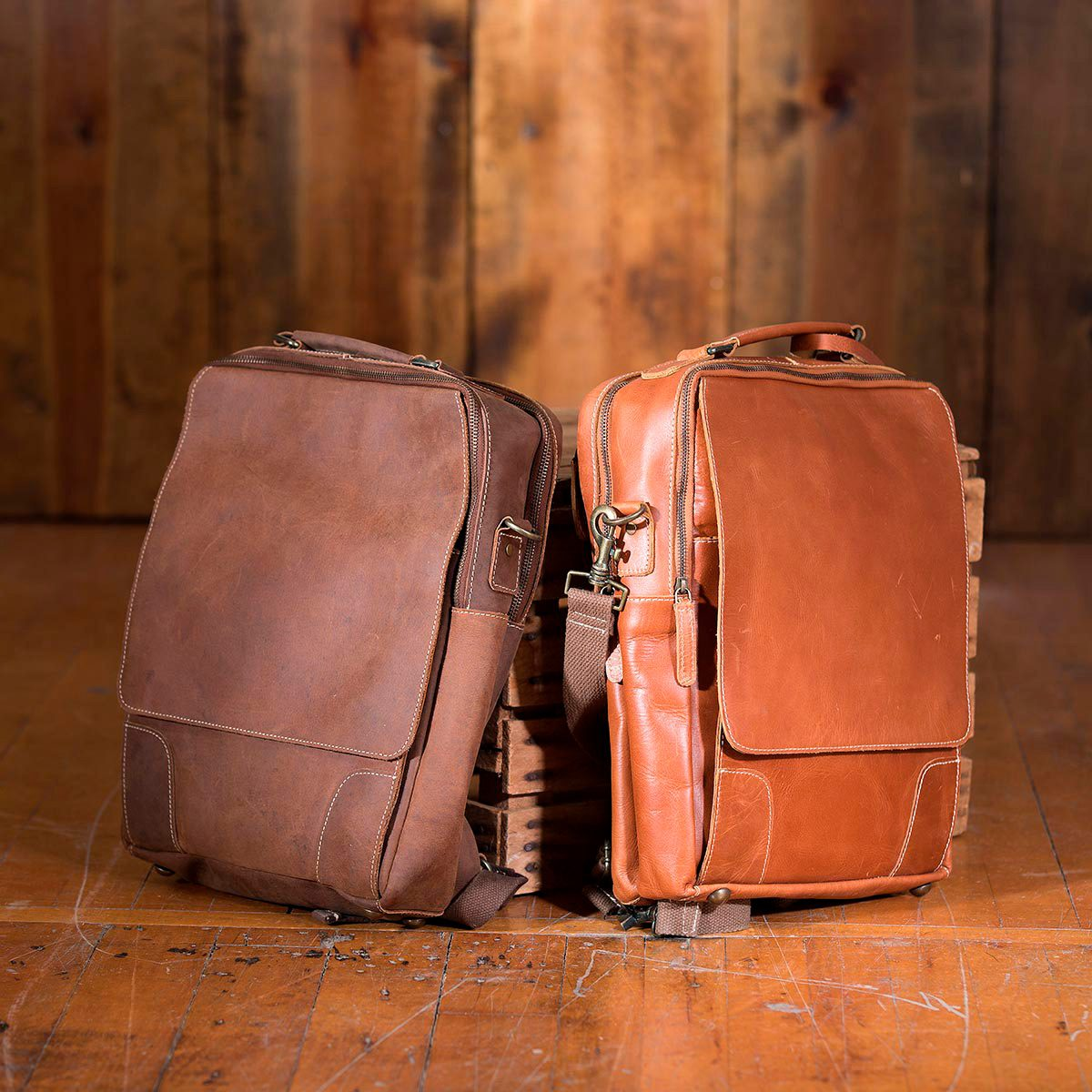 Fairfield Leather Briefcase Backpack
