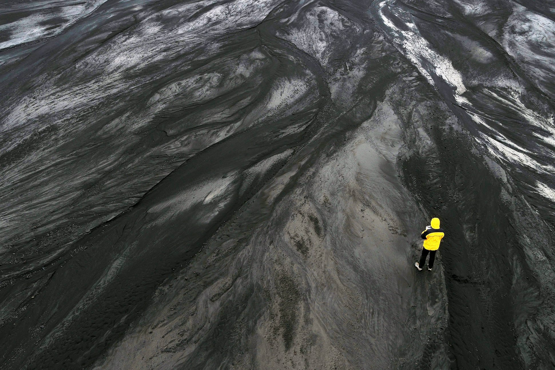 Remote location- Blacks Sands by Riverbeds, Iceland