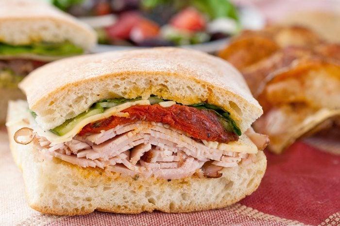 Gourmet Turkey Sandwich, Chips, and Salad