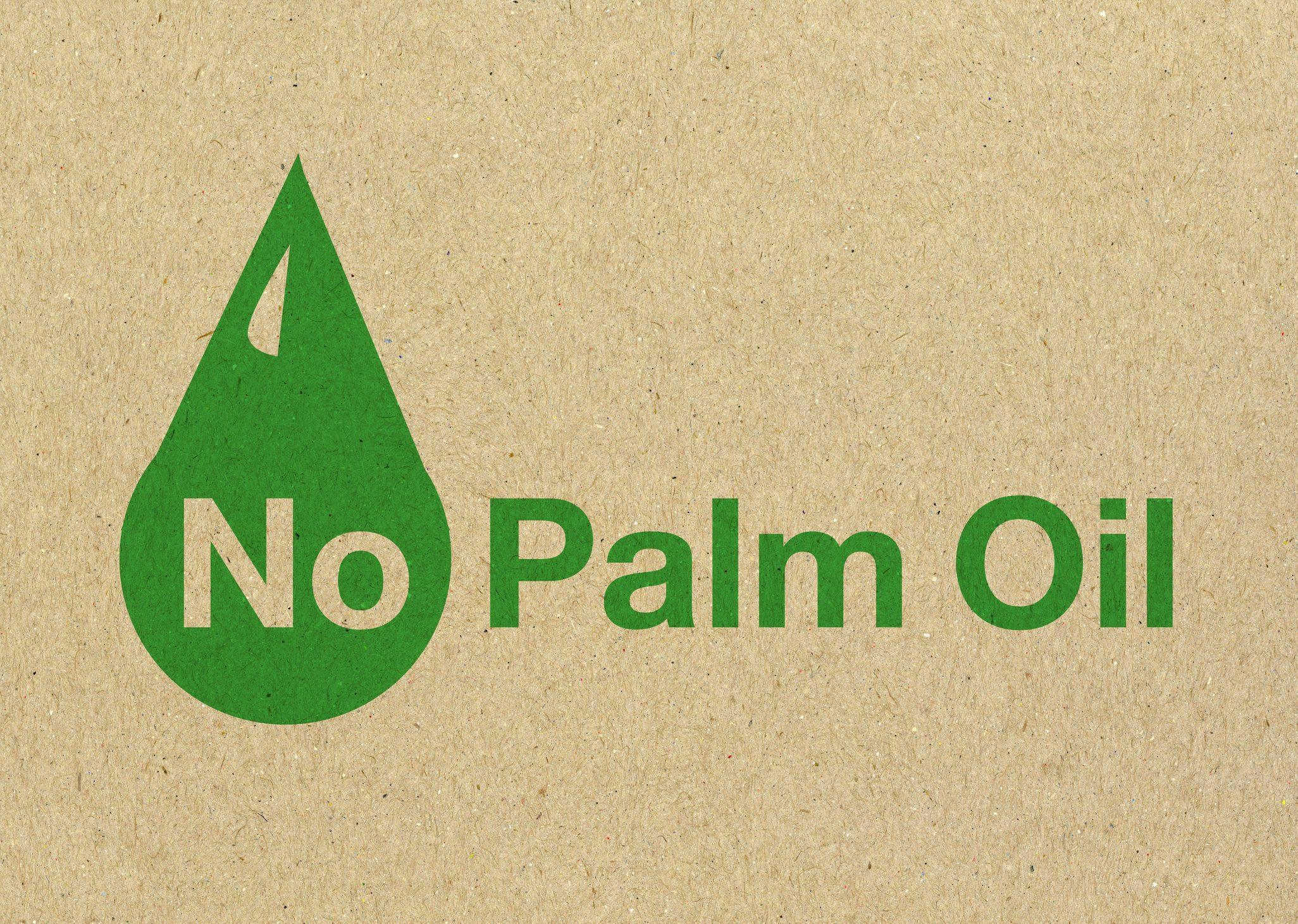 No palm oil