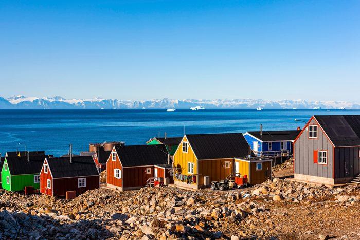 East Greenland City Ittoqqortoormiit, Scoresbysund, East Greenland, Greenland