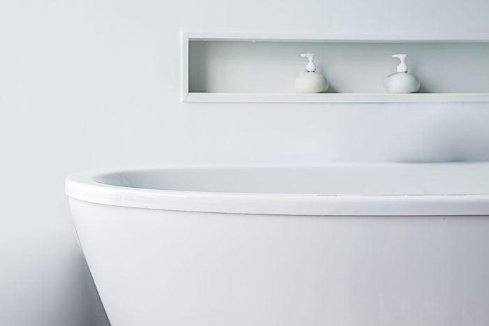 Close-Up Of Bathtub In Bathroom