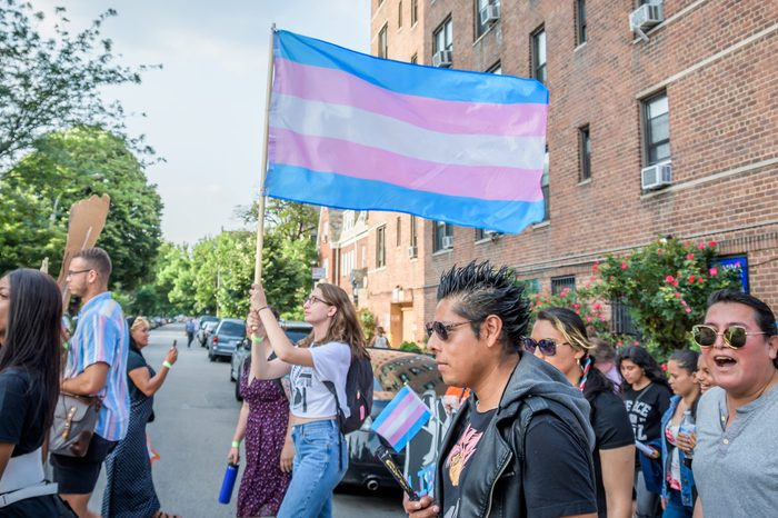 Trans people and their allies marched through Jackson...