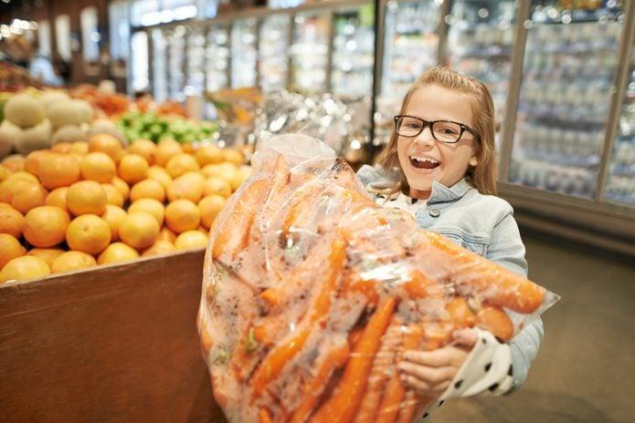 Mom says healthy eyesight needs lots of carrots