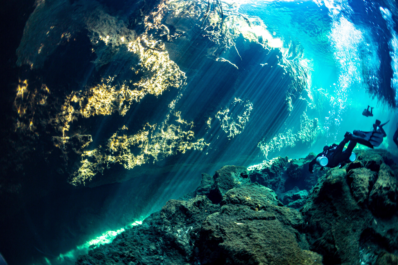 Mexico cenote Angelita