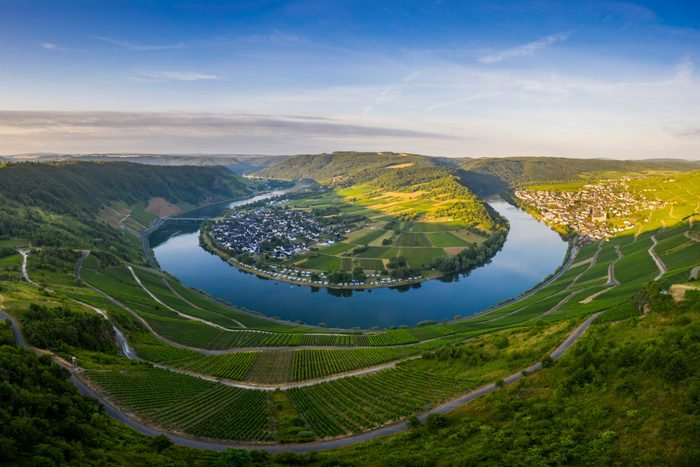 Moselle river at sunrise