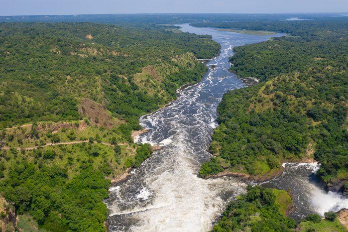 Famous Murchison Falls at Nile River, Uganda